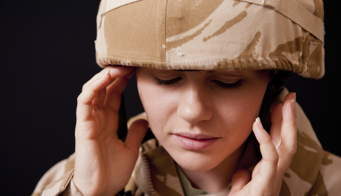 Women, whether they were enlisted or officers, were twice as likely to attempt suicide as men.