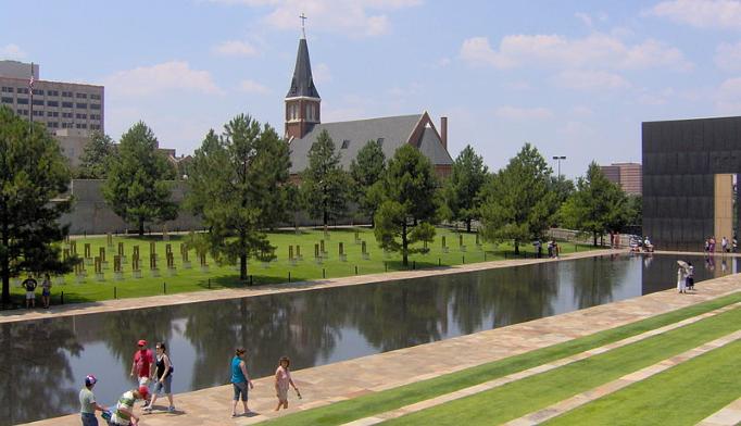 The Oklahoma City National Memorial. Photo courtesy wikimedia.org.