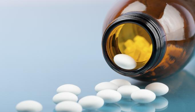bottle of opioids