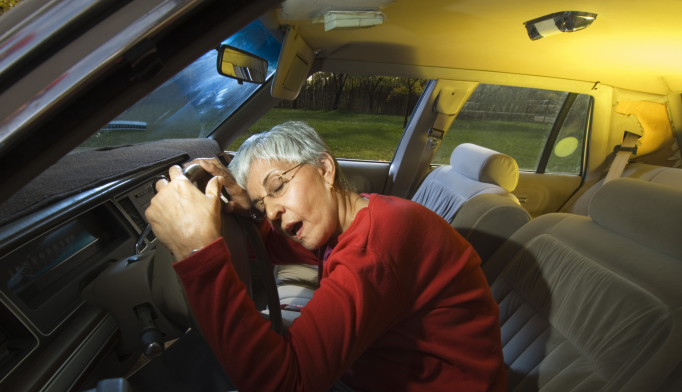 Significantly higher rates of motor vehicle collisions in women and adults aged 80 years and older.