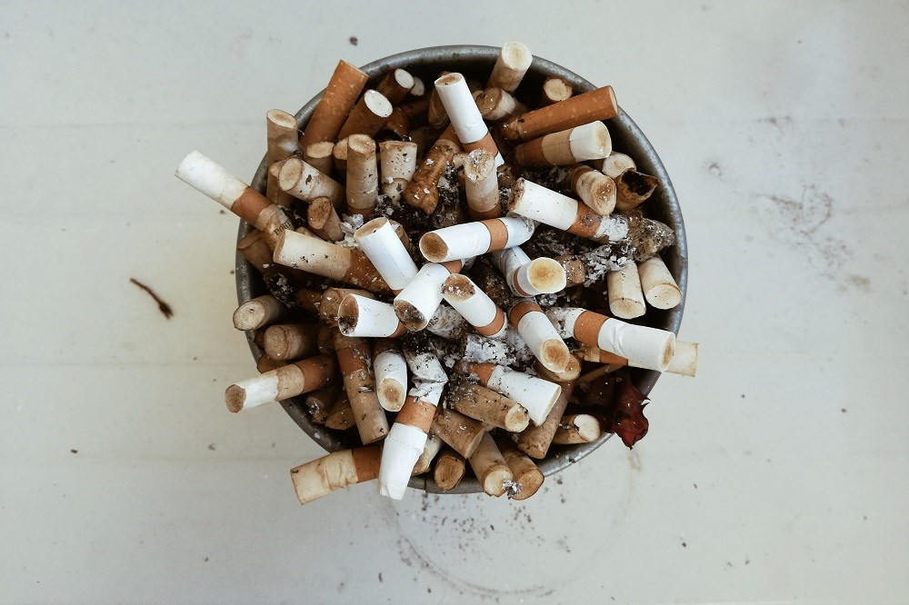 Current use of any tobacco product was 47.2% and 19.2% among adults with and without serious psychological distress, respectively.