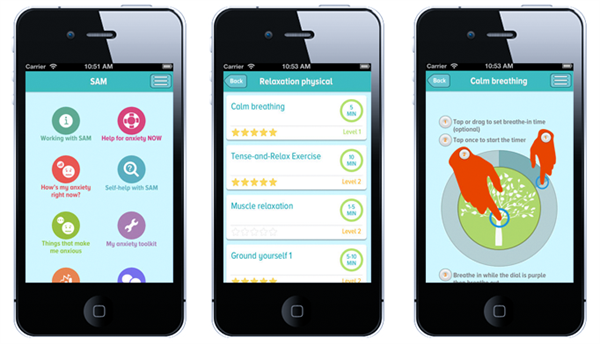 SAM: Self Help for Anxiety Management